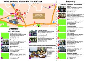 Draft inside page of Taste of Wivey & 10P leaflet