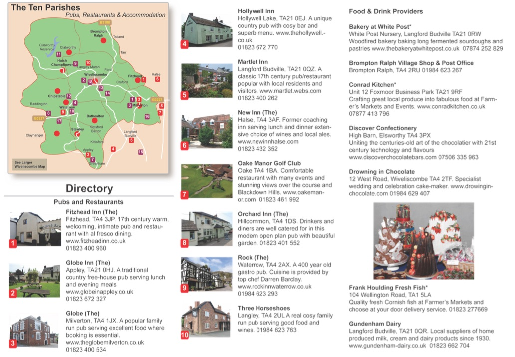 New Visitor Leaflet for Wiveliscombe & 10 Parishes!